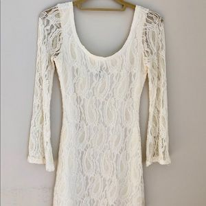 Lace Ivory Cocktail Dress
